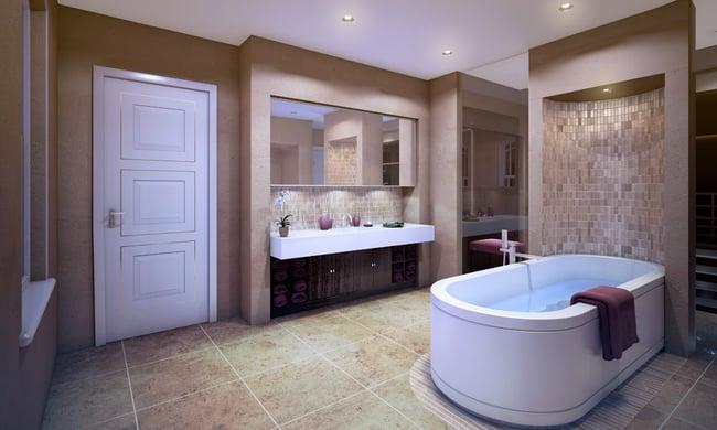 MOD503 Flush Inlay Bathroom Door