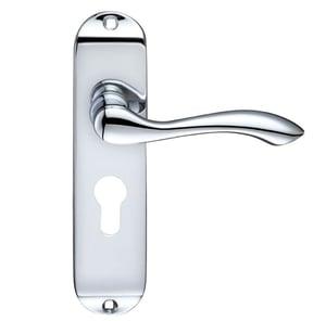 handle on backplate euro lock 803412