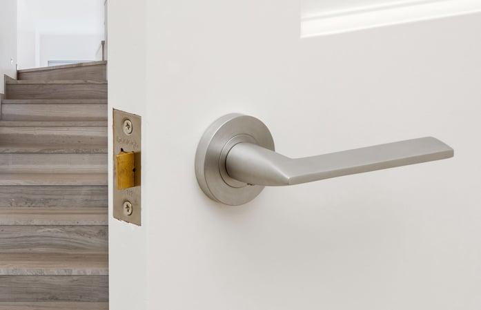 satin door handle finish