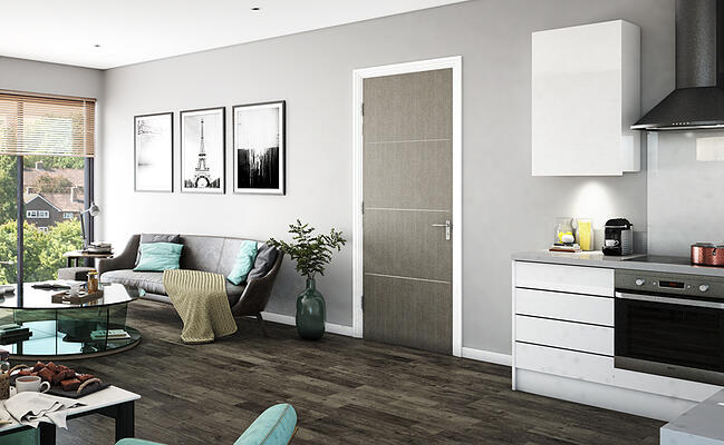MOD422 Flush Inlay Door in Grey Cotto